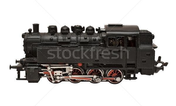 Locomotive modèle vue de côté noir Photo stock © winterling