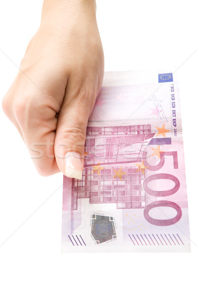 Offering 500 Euro Stock photo © winterling