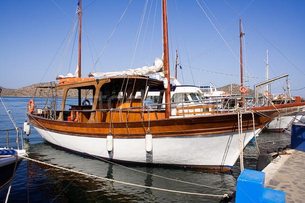 Docked Yacht Stock photo © winterling