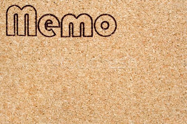 Memo note business ufficio lavoro comunicazione Foto d'archivio © winterling