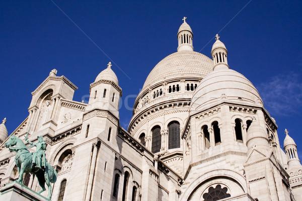 Frans kerk hemel stad gebouwen steen Stockfoto © winterling