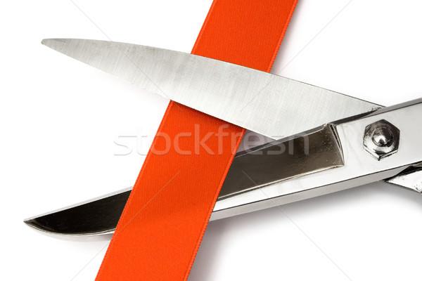 Schaar Rood satijn Stockfoto © winterling