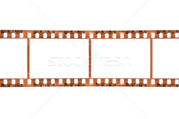 Przezroczy film ramki odizolowany biały film Zdjęcia stock © winterling