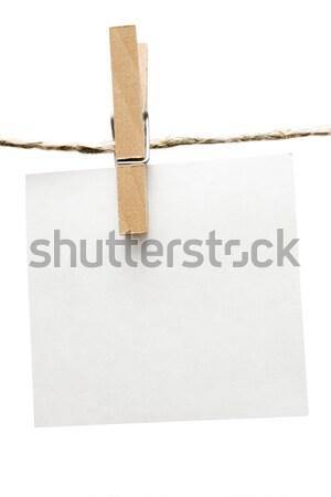 注記 洗濯挟み 絞首刑 孤立した 白 ストックフォト © winterling