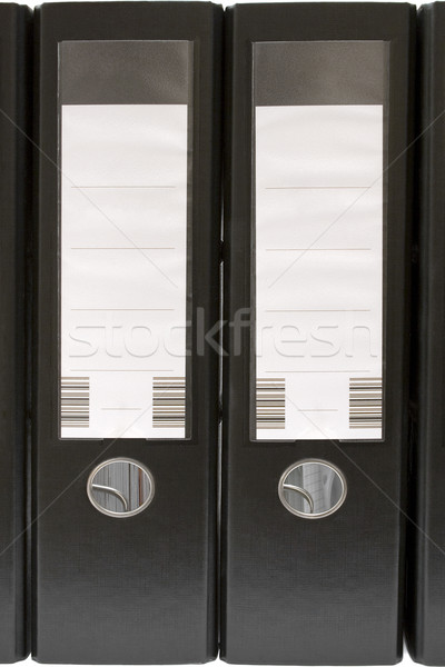 Two Black Ring Binders Stock photo © winterling