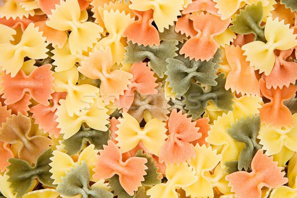 Coloré pâtes texture alimentaire fond Photo stock © winterling