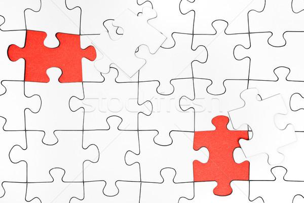 Twee vermist stukken puzzel achtergrond Stockfoto © winterling