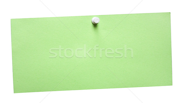 Eenvoudige groene nota witte bestand Stockfoto © winterling
