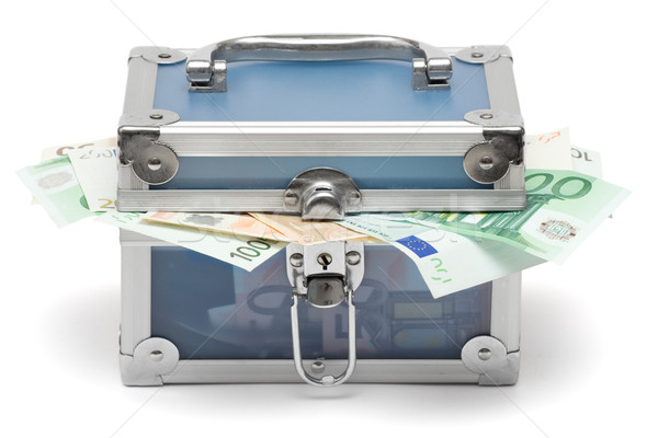 Closed Blue Money Chest Stock photo © winterling