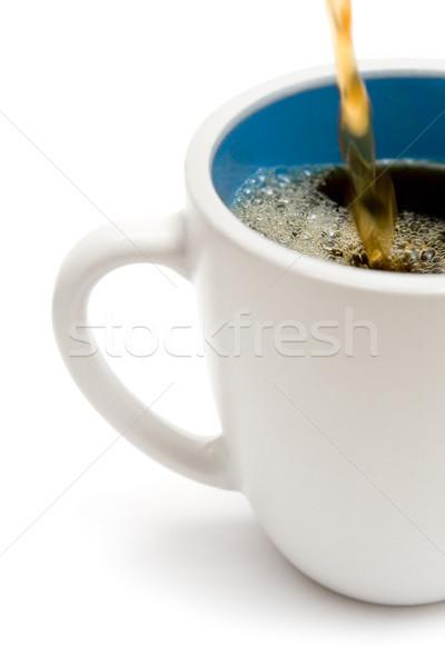 Beker vers koffie hot witte Stockfoto © winterling
