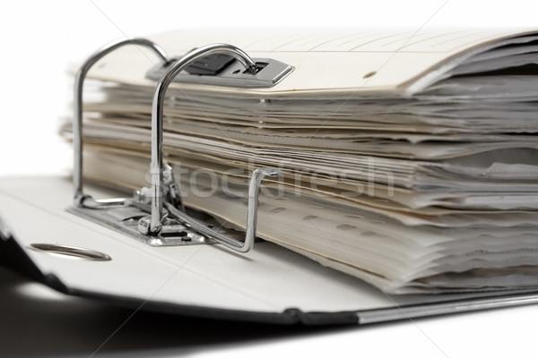 Abrir arquivo dobrador isolado branco Foto stock © winterling