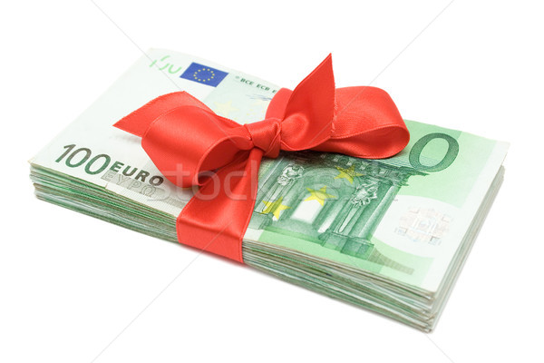 Euro Banknotes with Ribbon Stock photo © winterling