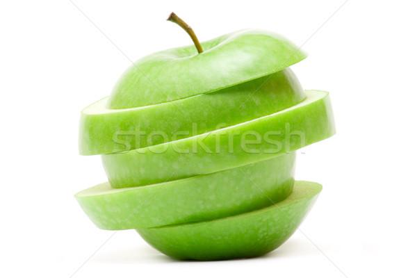 Groene appel geïsoleerd witte voedsel Stockfoto © winterling
