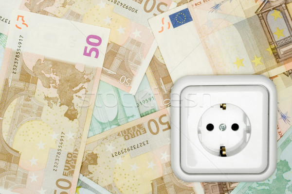 Banknotes and Power Socket Stock photo © winterling