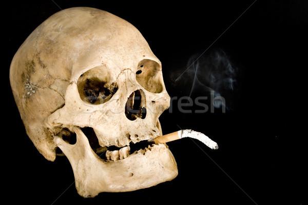 ニコチン 人間 頭蓋骨 喫煙 孤立した ストックフォト © winterling