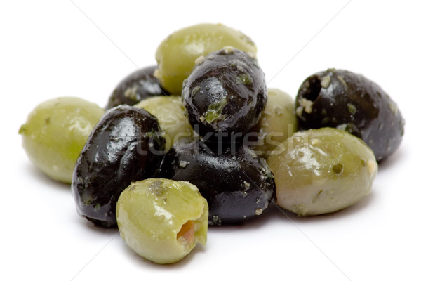 Green and Black Olives Stock photo © winterling