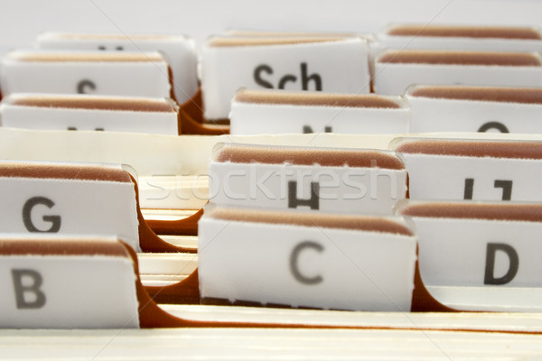 Organizing Contacts Stock photo © winterling