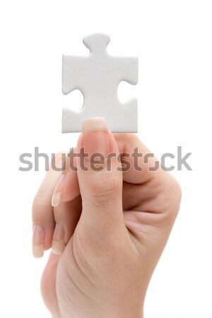 Holding a Blank Jigsaw Piece Stock photo © winterling