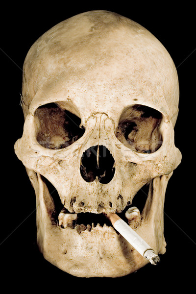 Stock photo: Smoking Skull