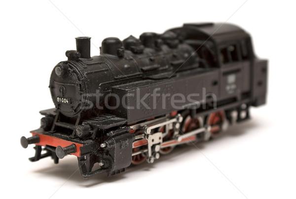 Vapeur moteur modèle noir isolé blanche Photo stock © winterling