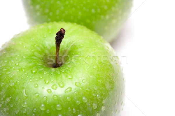 Dois verde maçãs gotas de água avó Foto stock © winterling