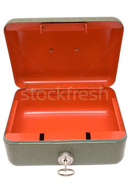 Vazio numerário caixa metal isolado Foto stock © winterling