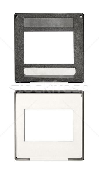 пластиковых слайдов Label изолированный белый Сток-фото © winterling