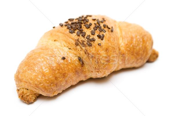 Chocolade croissant gebakken geïsoleerd witte snoep Stockfoto © winterling