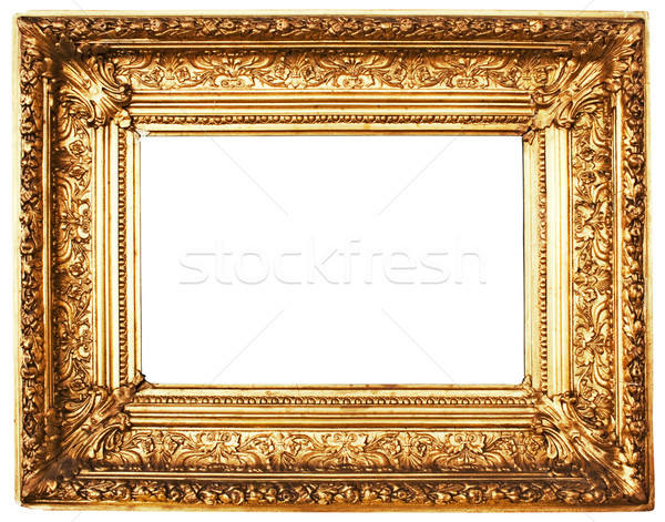 Ornamented Golden Picture Frame with Clipping Path Stock photo © winterling