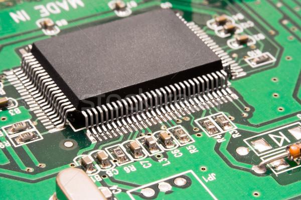 Computer Processor Close-Up Stock photo © winterling