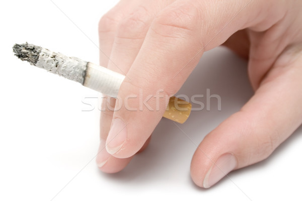 Hand sigaret geïsoleerd witte stress Stockfoto © winterling
