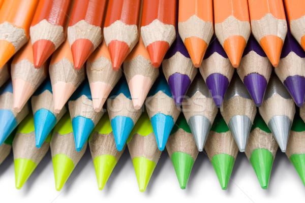 Gekleurd krijtjes kleurrijk potloden Stockfoto © winterling