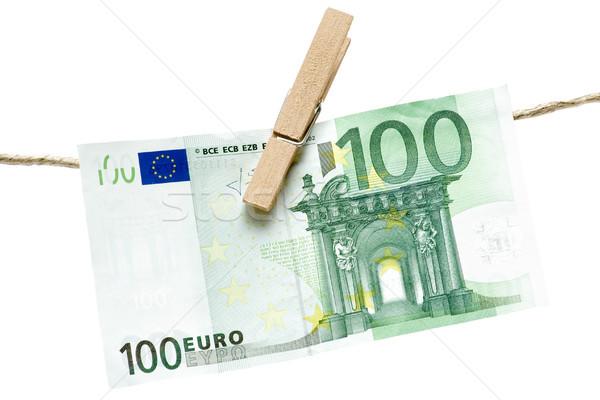 Drying Green Euro Bill Stock photo © winterling