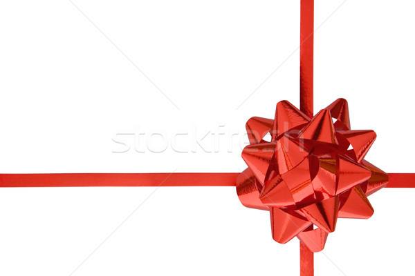 Rouge cadeau ruban isolé blanche présents Photo stock © winterling