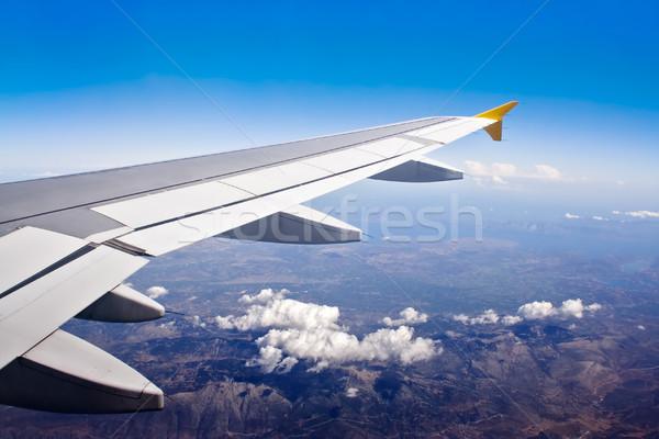Widok z lotu ptaka na zewnątrz samolot niebo wody morza Zdjęcia stock © winterling