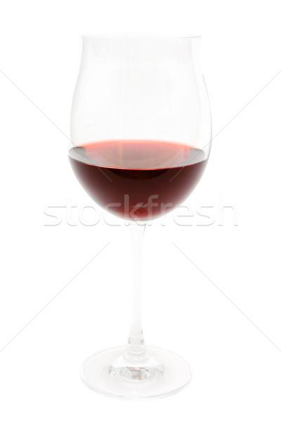 Isolé verre verre de vin vin rouge blanche fête Photo stock © winterling