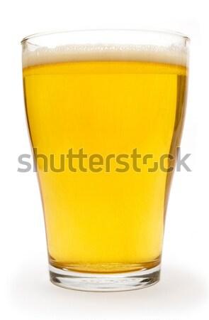Pequeno vidro cerveja isolado branco fundo Foto stock © winterling