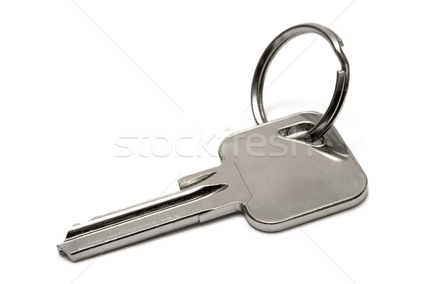Appartement sleutel sleutelhanger geïsoleerd witte metaal Stockfoto © winterling
