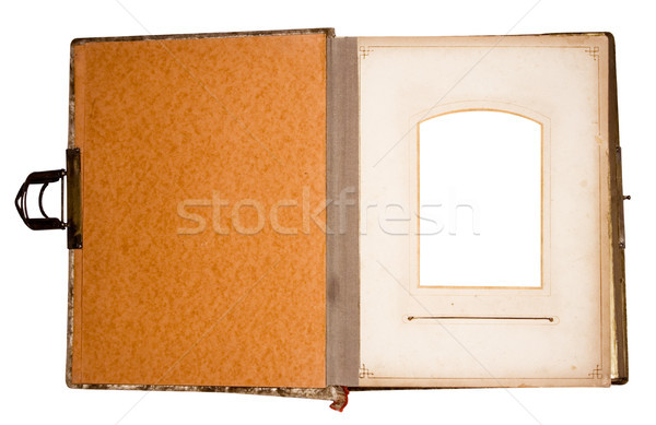 Old Photo Album for One Photo with Clipping Path Stock photo © winterling