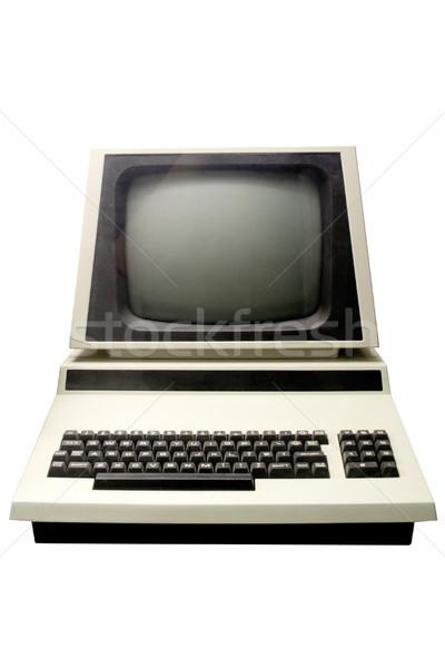 Velho computador retro peça tecnologia isolado Foto stock © winterling