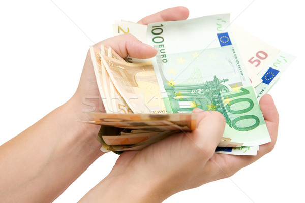 Fistful of Euro Banknotes Stock photo © winterling