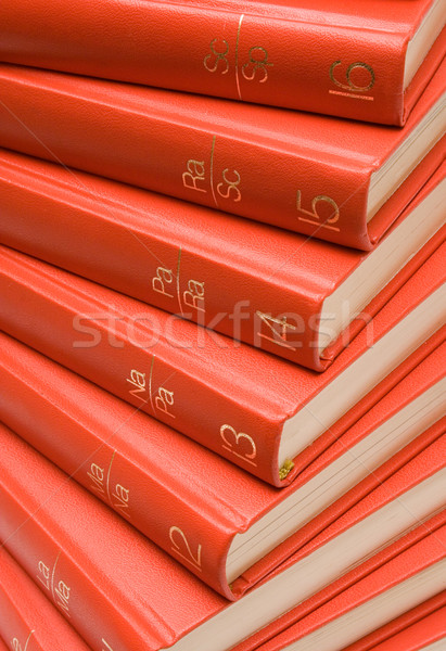Stacked Red Books Stock photo © winterling