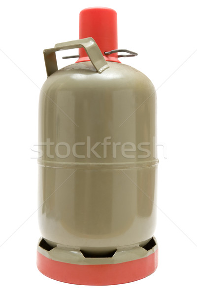 Gas cilindro metal aislado blanco botella Foto stock © winterling