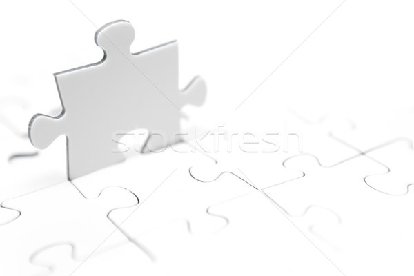 Standing Jigsaw Piece Stock photo © winterling