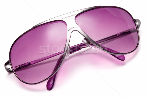 Rose lunettes de soleil isolé blanche plage oeil Photo stock © winterling
