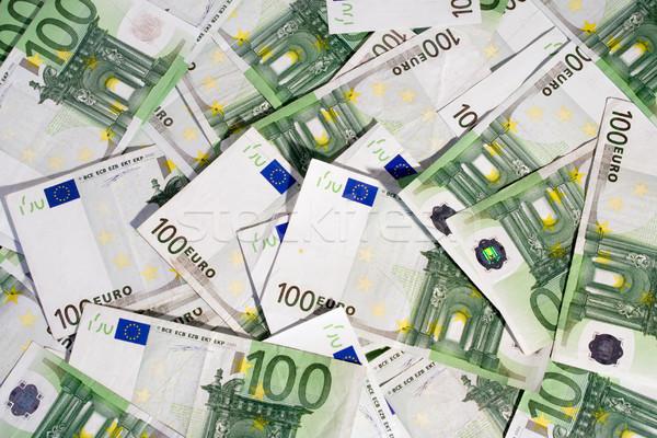 100 euro bankbiljetten hoop achtergrond succes Stockfoto © winterling