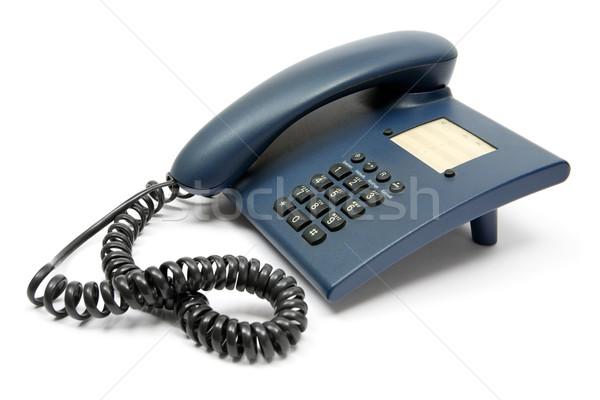 Azul telefone escuro telefone branco escritório Foto stock © winterling