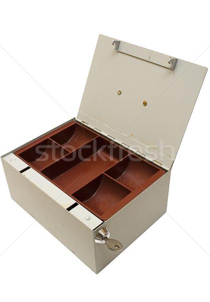 Cinza numerário caixa vazio velho Foto stock © winterling