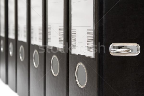 Verscheidene ring rij zwarte kantoor school Stockfoto © winterling