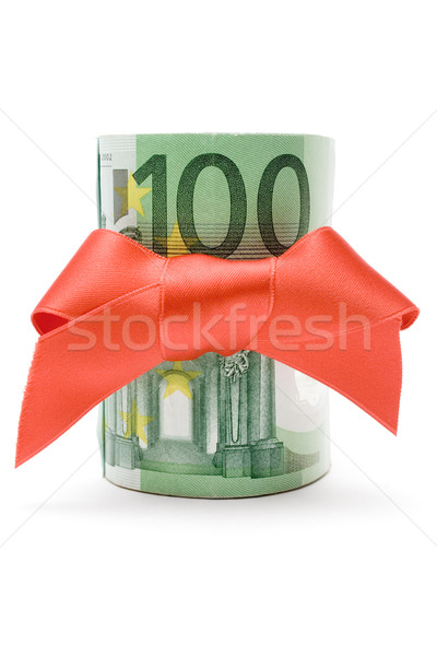 100 euro geschenk bankbiljetten geïsoleerd Stockfoto © winterling